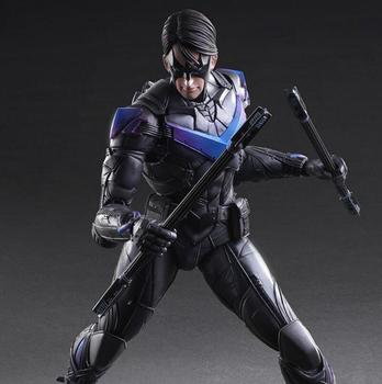BatMan Aksiyon Figürü Play Arts Kai Batman, Nightwing PVC Şekil Oyuncak 260MM Anime Film Yarasa Adam Arkham Knight Varyant PA17 Playarts