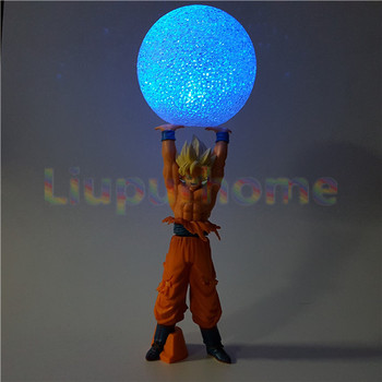 Dragon Ball Z son Goku Ruh Bomba DİY Led Işıkları Gece Lambası Anime Dragon Ball DBZ Işık Noel Dekor Led